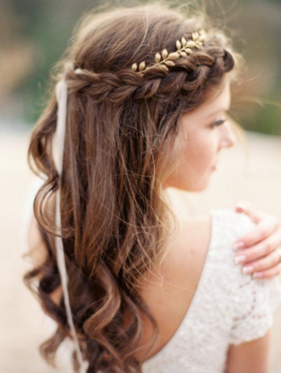 Penteado simples para cabelos longos