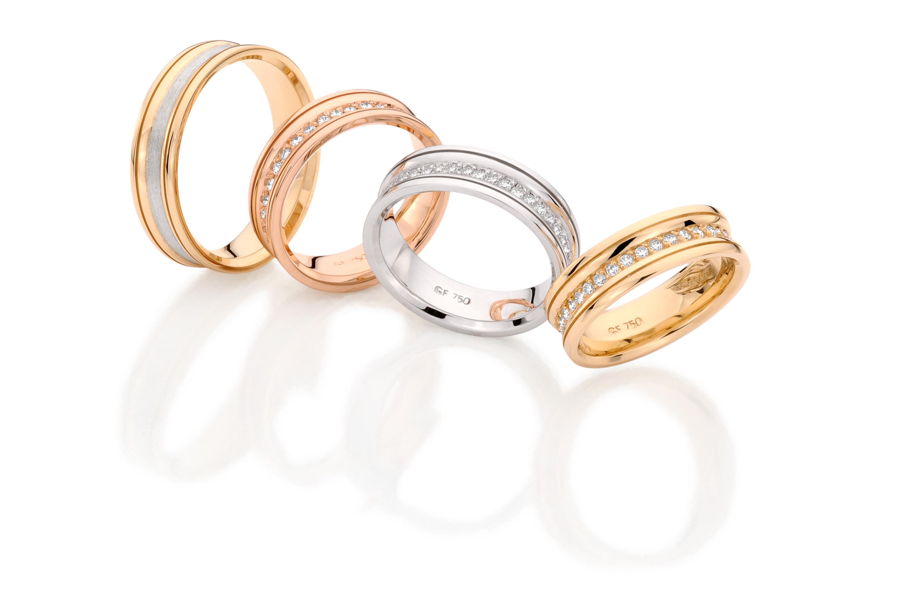 aliança de ouro branco, amarelo e rosa