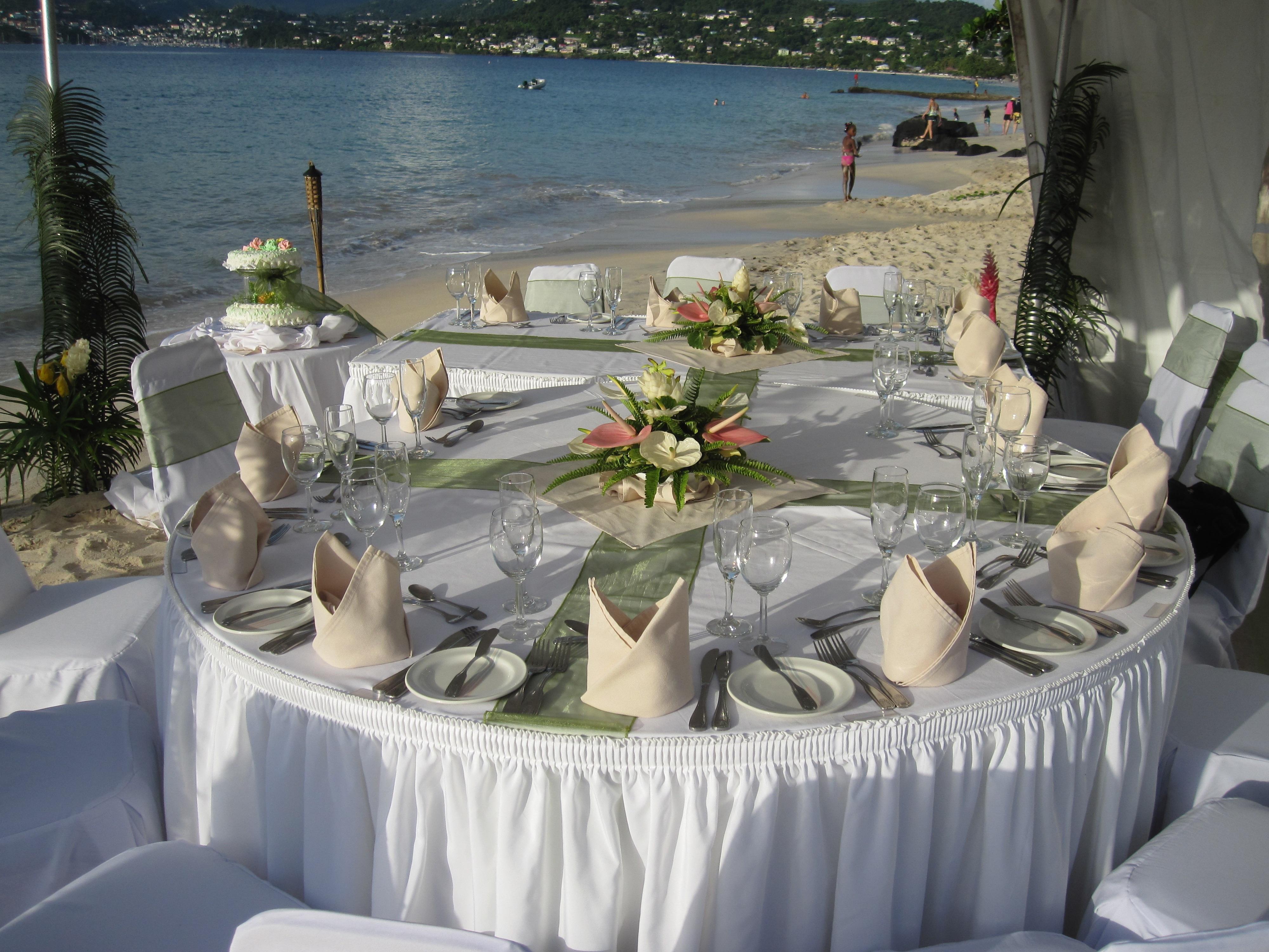 buffet para casamento na praia