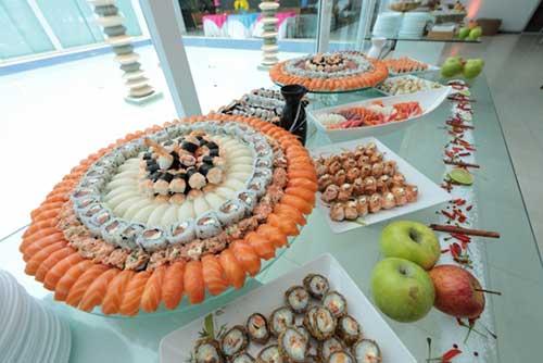 Cardápio de casamento com Sushi