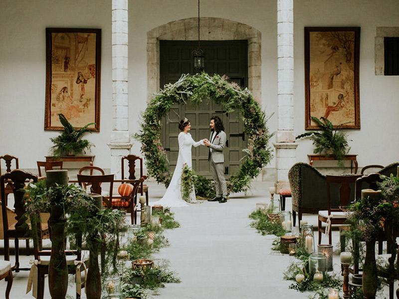 Enfeite de guirlanda para Casamento
