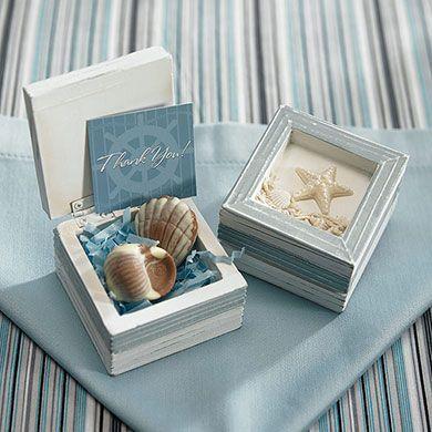 Caixinha personalizada para casamento na praia