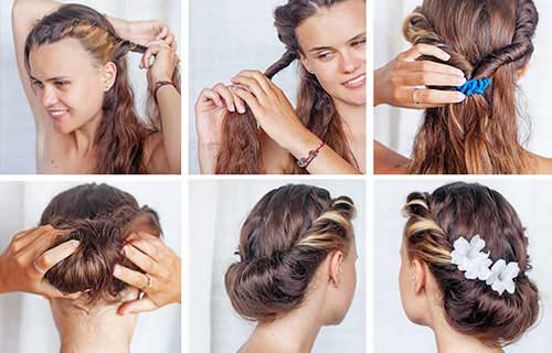 Passo a passo de como fazer o penteado coque torcido