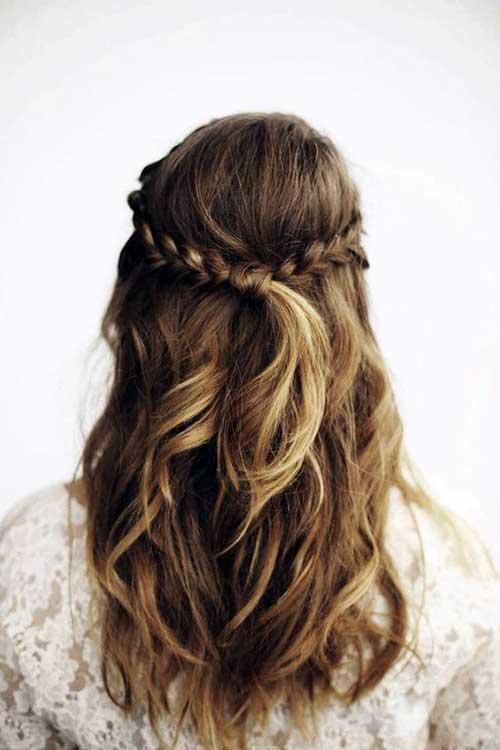 penteado simples para casamento ao ar livre