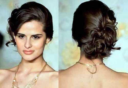 Penteado simples com cabelo preso