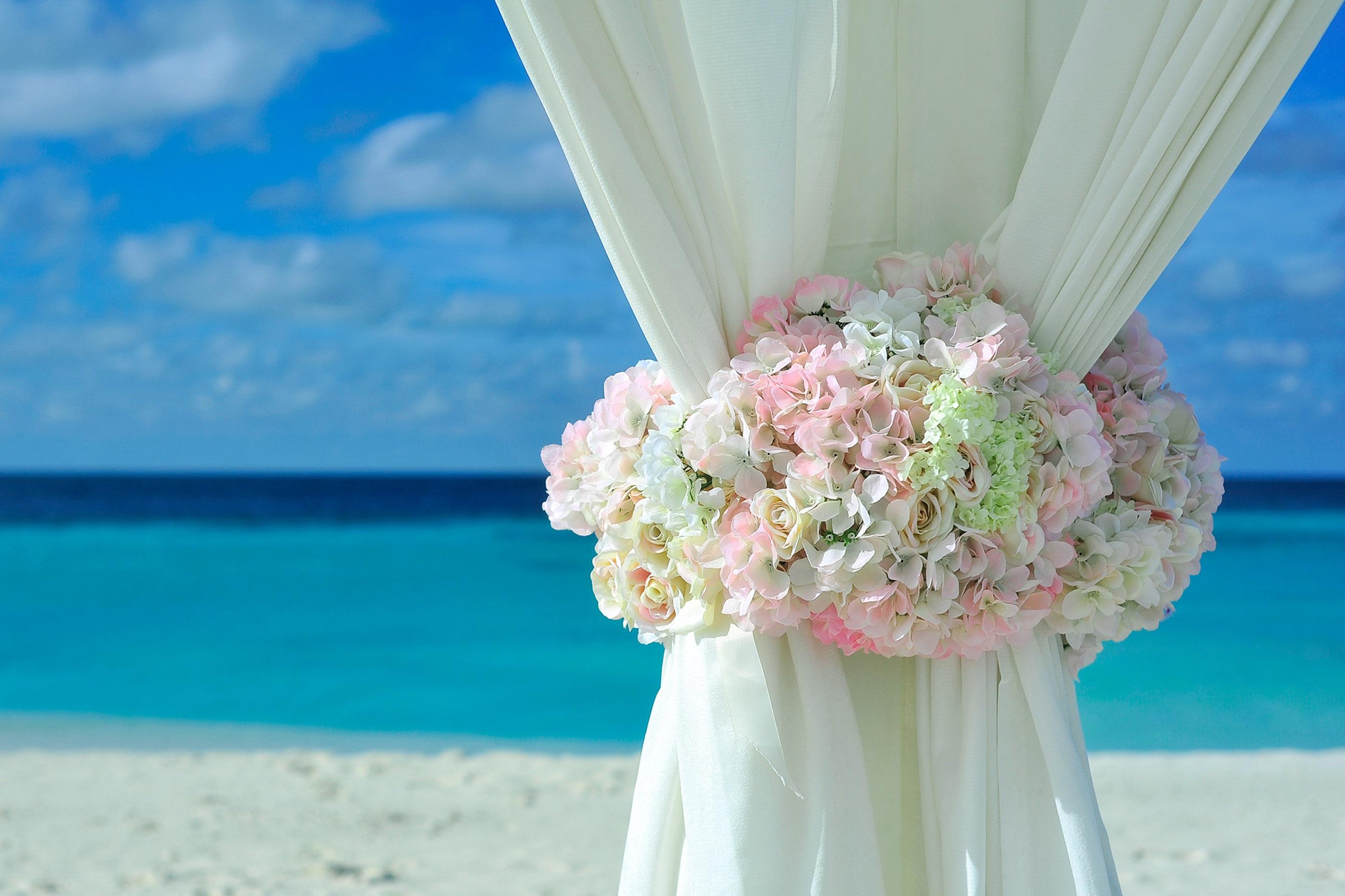preparação para casamento na praia