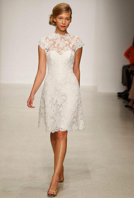 Vestido de noiva curto de renda
