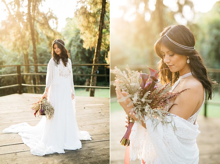 vestido comprido de noiva
