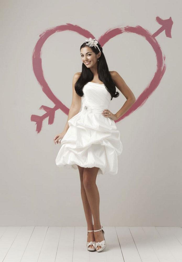 Vestido curto de noiva