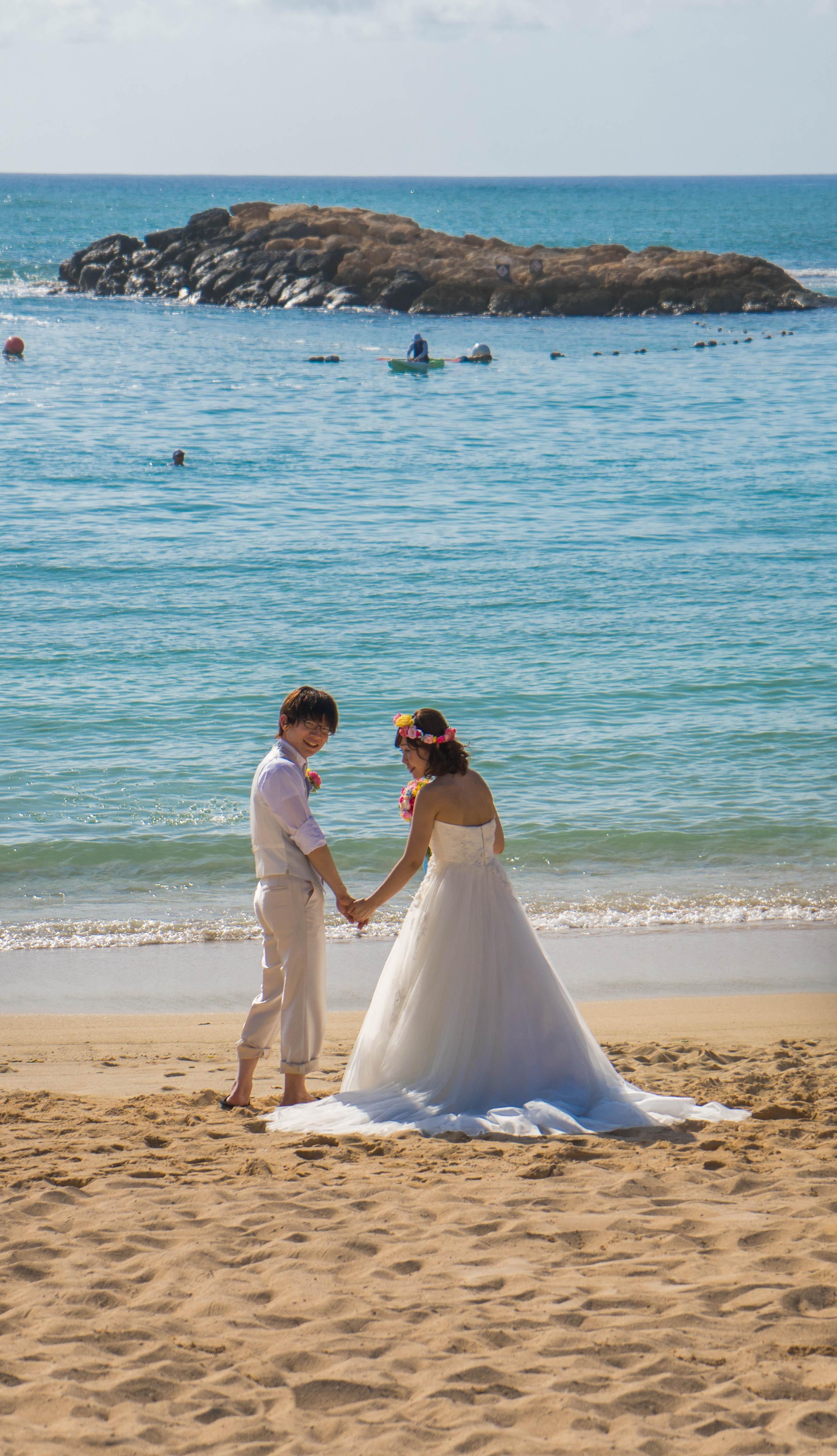 vestidos longos para casamento na praia