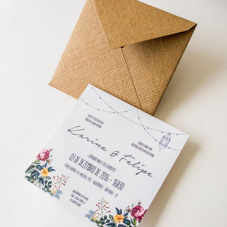 Convite simples porem bem lindo