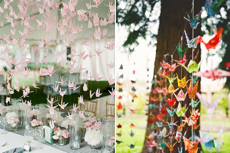 Origami como decoração