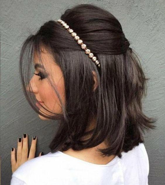 Penteados cabelos curtos para madrinhas