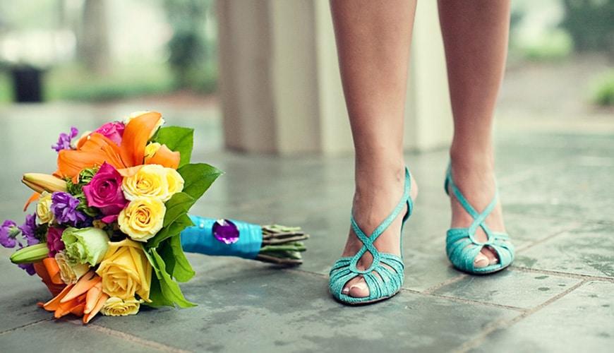 sapato azul claro