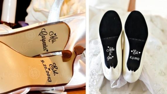 Sapatos com frases