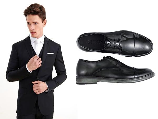 ternos preto sapatos pretos