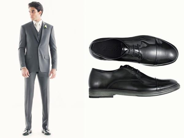 Terno grafite ou cinza sapatos pretos