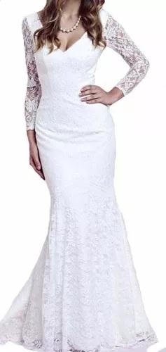 Vestido branco simples para madrinhas