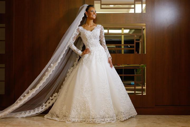 O vestido princesa fica lindo