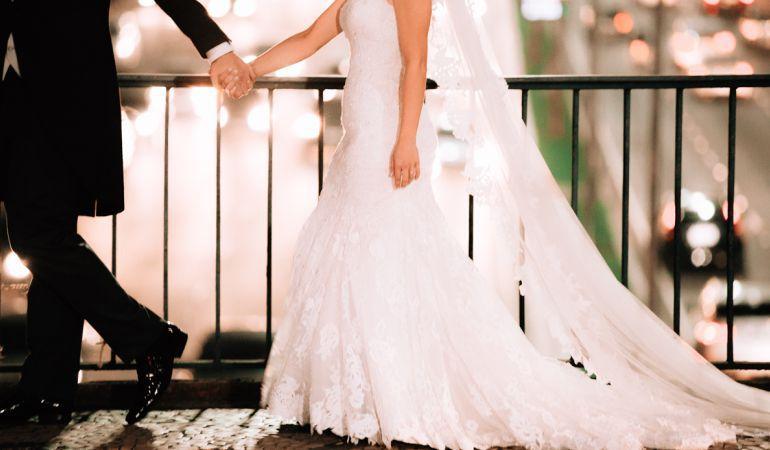 Vestido para noivas baixas