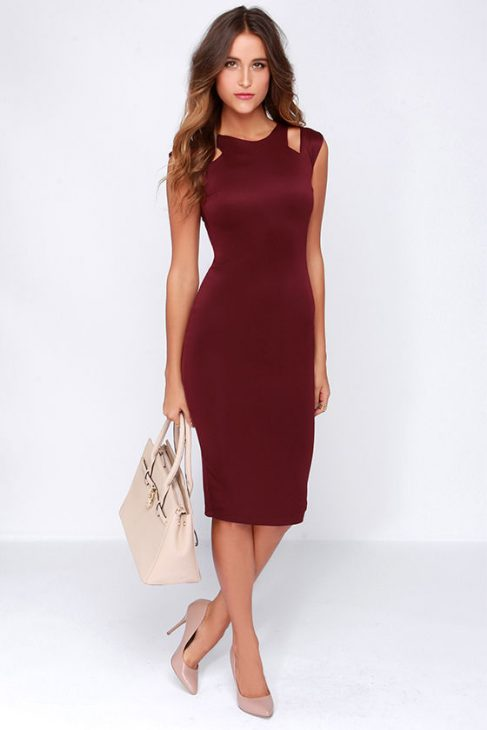 Vestido vinho