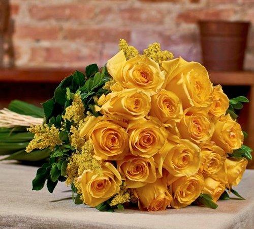Buquês de rosas amarelas