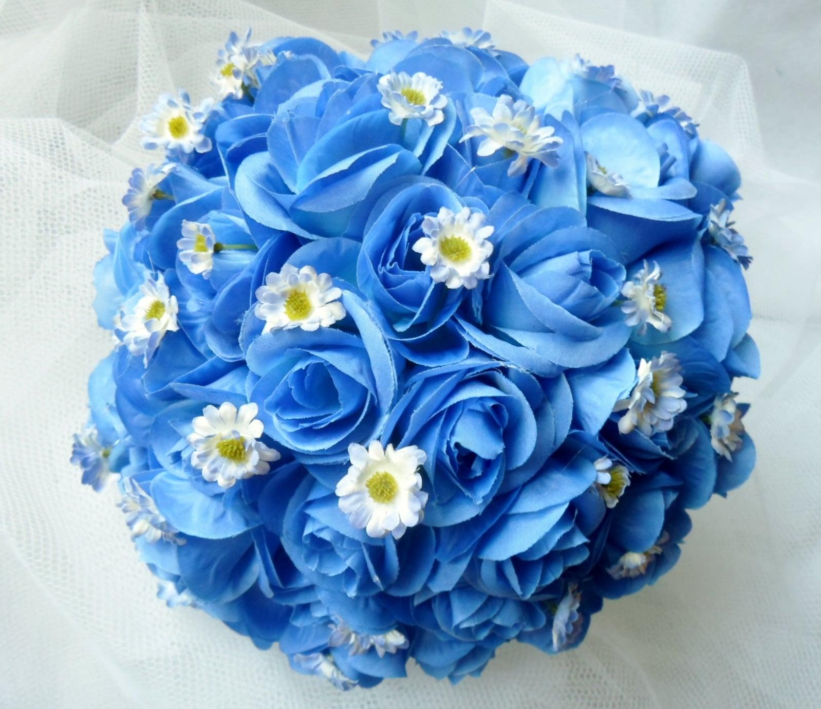 Buquês de rosas azuis