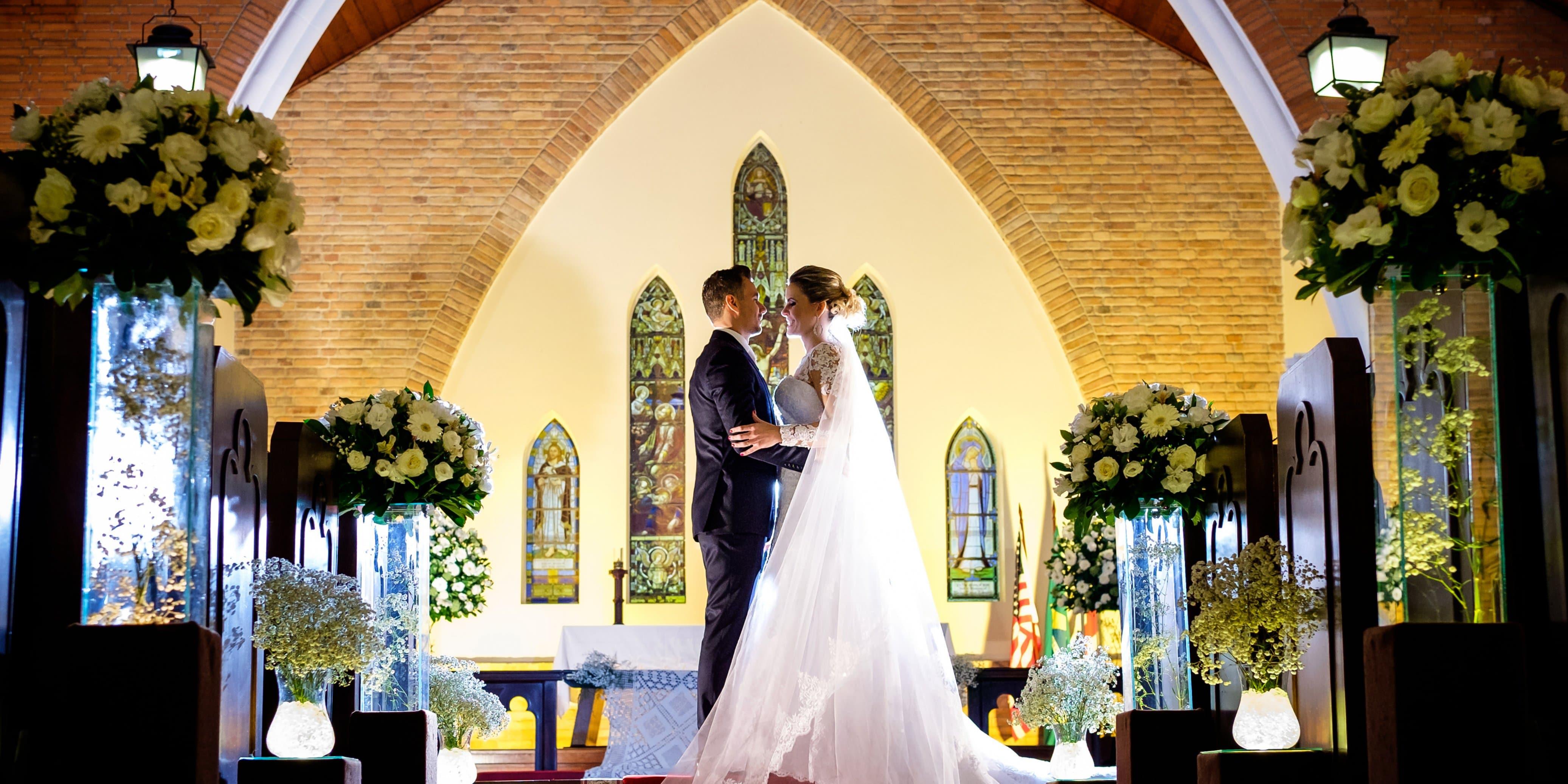 A igreja deixa sua cerimonia incrível