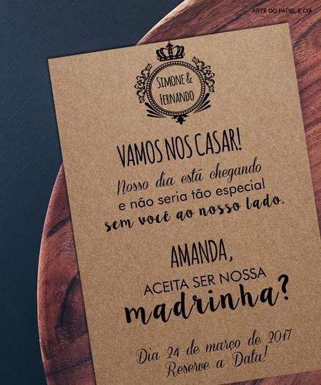 Convite Para Padrinhos 40 Ideias Para Você Se Inspirar Casamentobiz