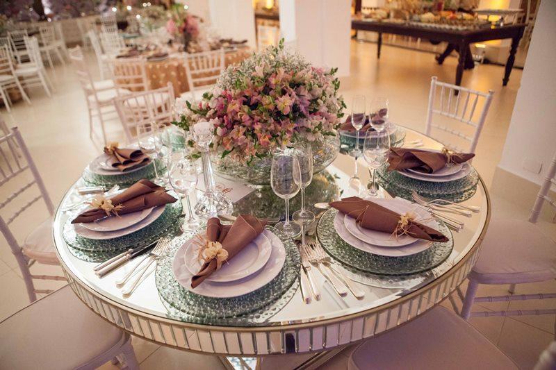 Coração simples e linda para a mesa dos convidados