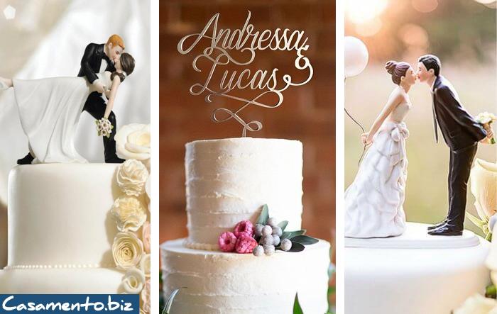 Deixe seu bolo mais charmoso com topo de bolo casamento
