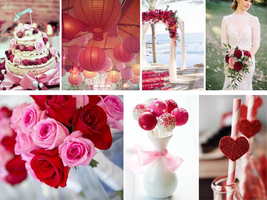 Deixe seu Casamento ainda mais romântico usando cores como rosa e vermelho