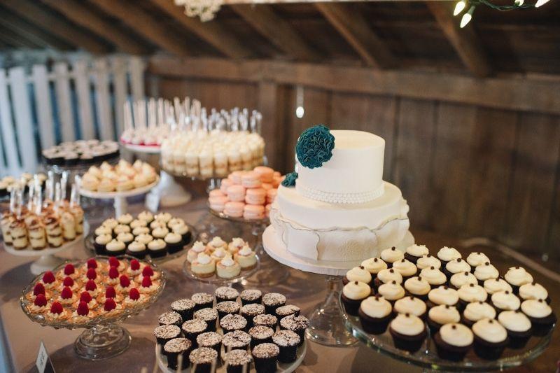 Linda mesa de casamento simples