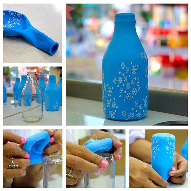 A decoração de garrafas com bexiga é a mais fácil e você mesmo pode fazer