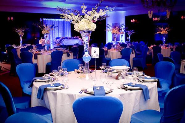 Exemplo de como decorar usando a cor azul e branco