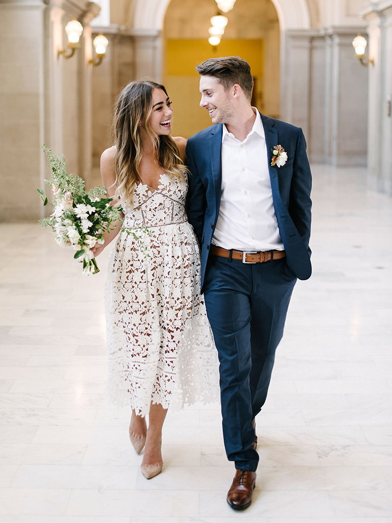 Ternos mais simples para casamento civil