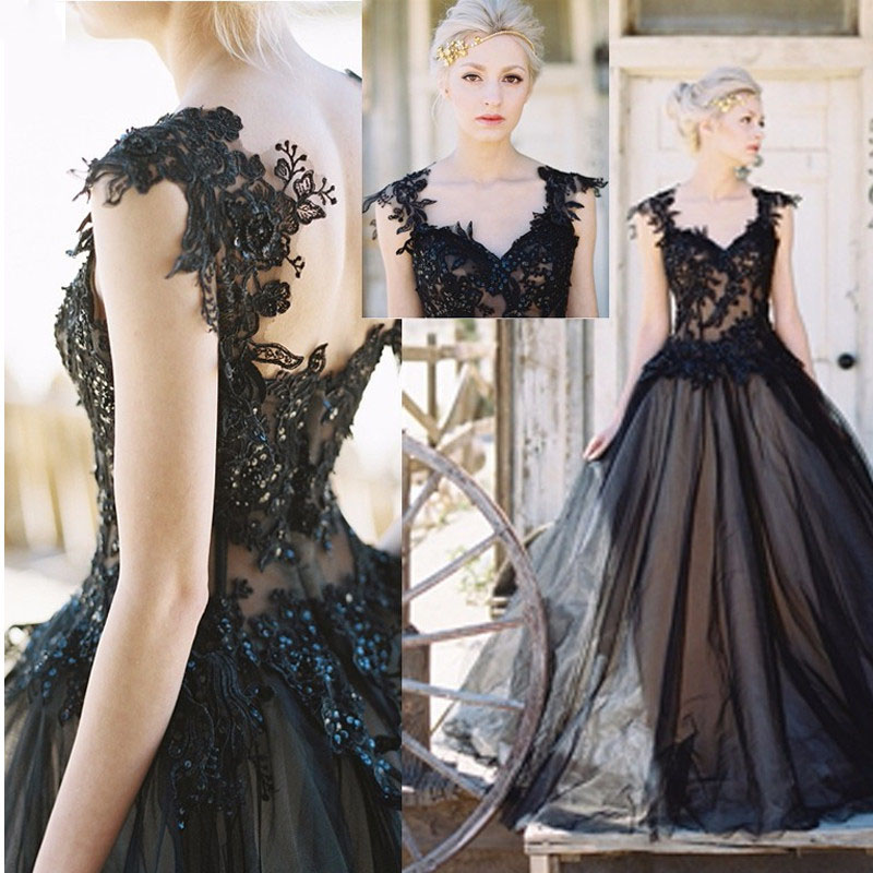 Vestido de Noiva Preto
