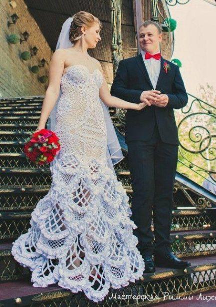 fbf9ea86e Vestido de noiva de crochê - 30 modelos, como fazer, gráfico e receitas