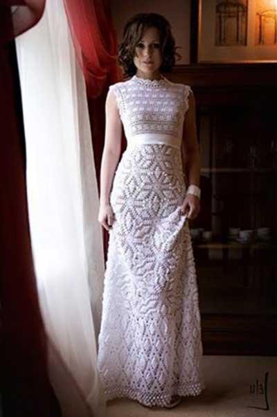 Vestido De Noiva De Crochê 30 Modelos Como Fazer Gráfico