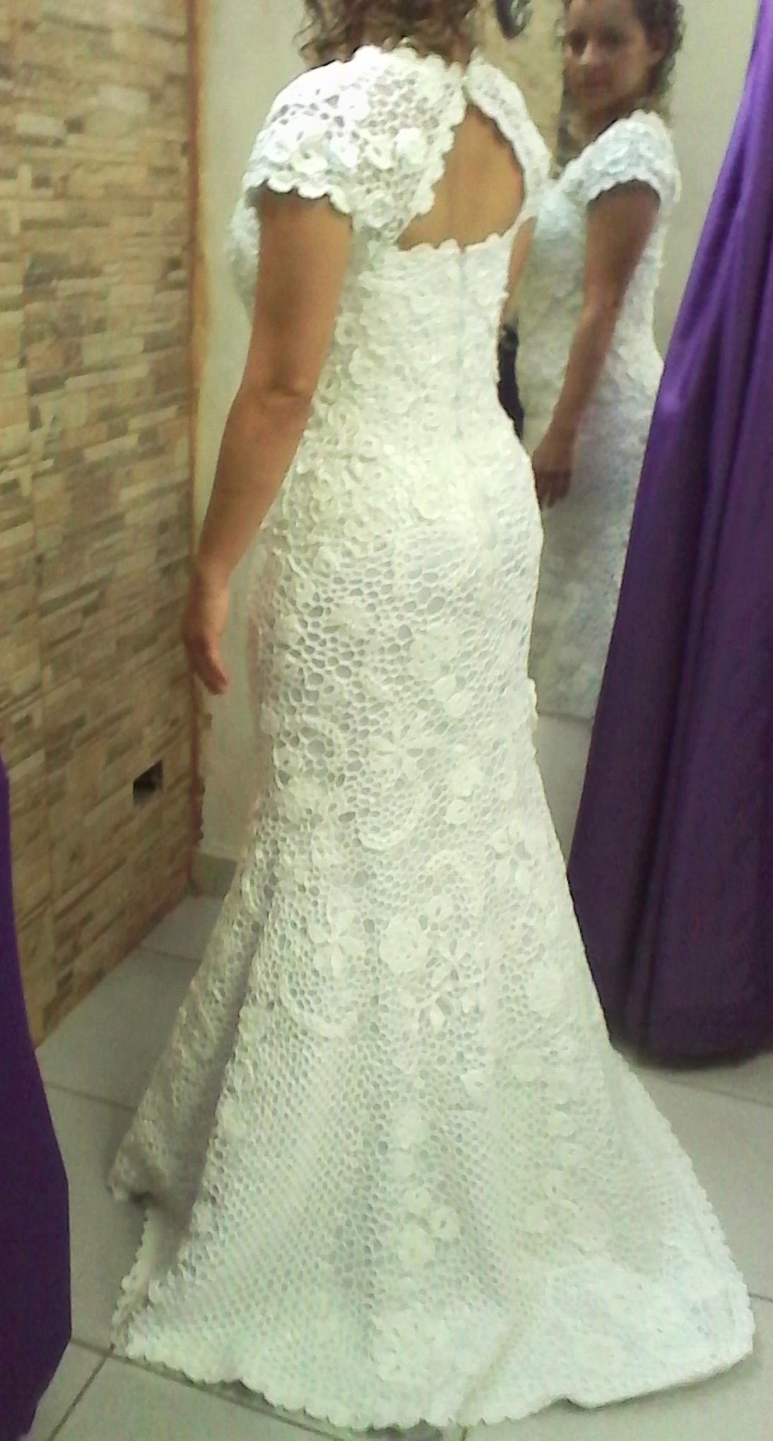 ebcf783b1c0c Vestido de noiva de crochê - 30 modelos, como fazer, gráfico e receitas