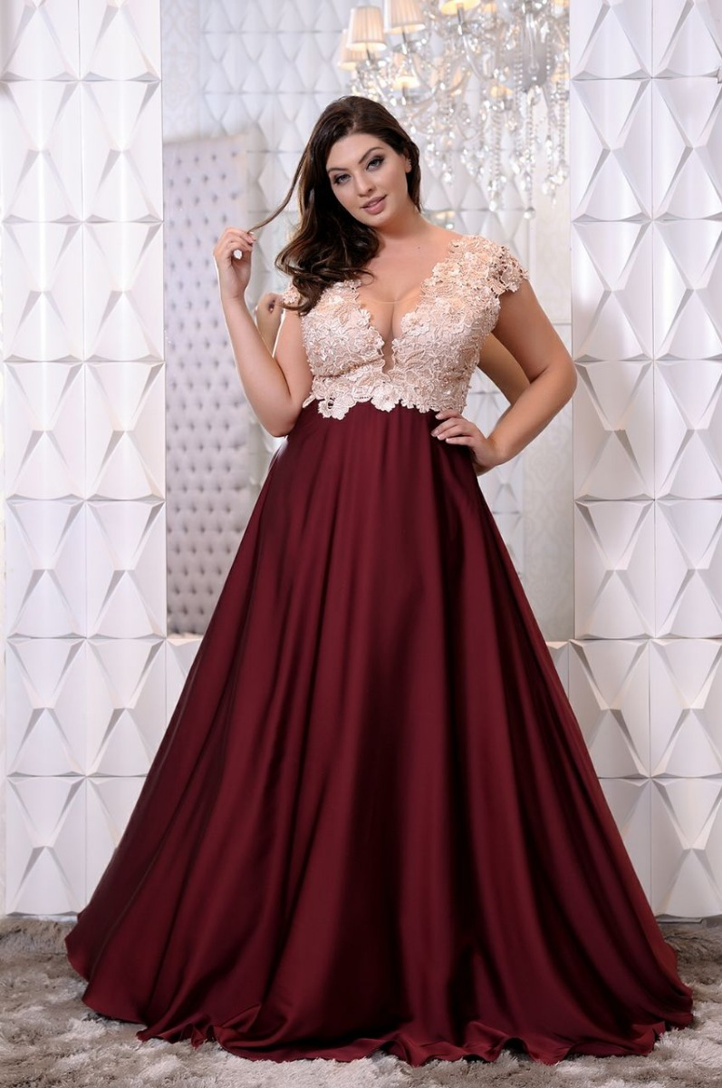 Vestido Casamento/madrinha/mãe De Noiva/plus Size-p