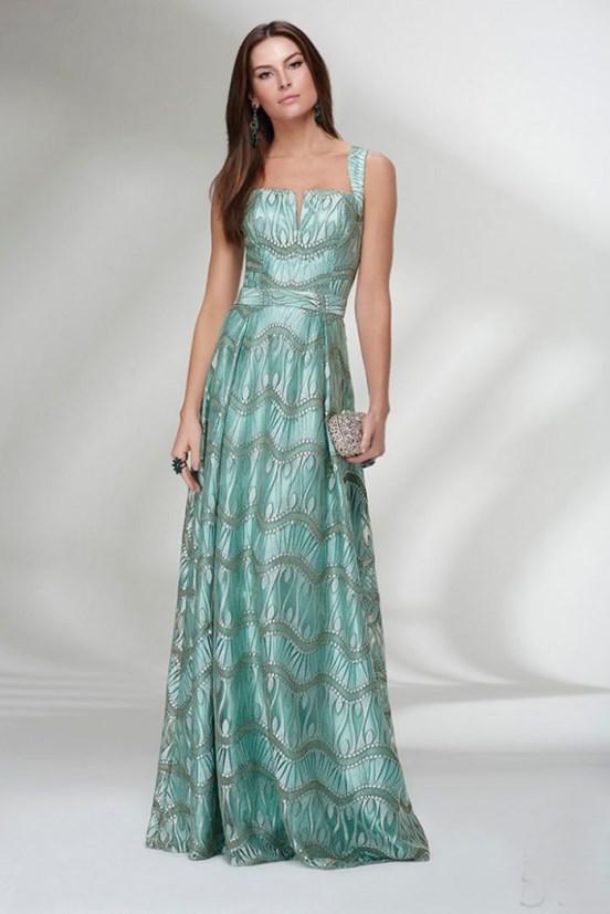Vestido verde agua curto para casamento