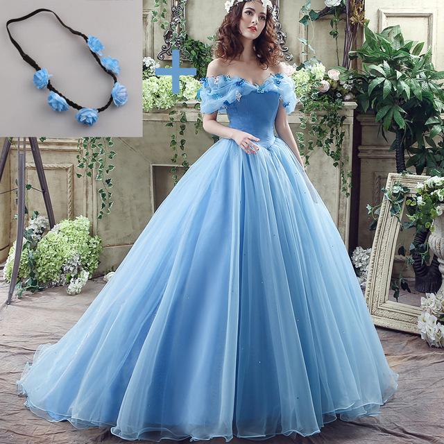 Vestido de noiva azul