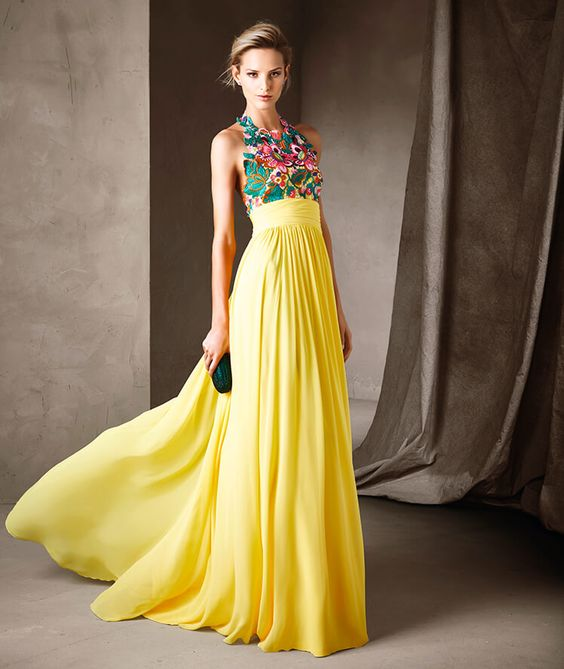 Vestido de Madrinha Amarelo