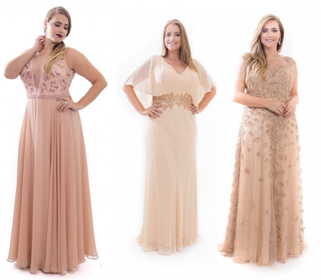 Vestido de madrinha/festa/formatura plus size rosé | Mais