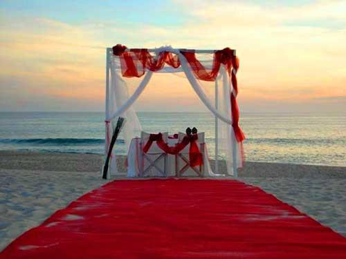Decoração de Casamento vermelho e branco