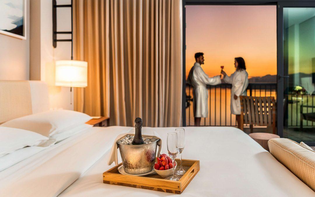 Hotel bem lindo para os noivos curtirem