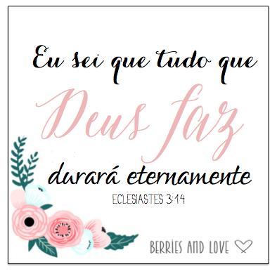 Convite de casamento com versículo bíblico