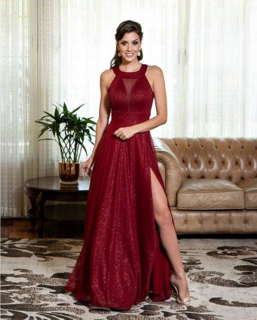 Vestido de Madrinha Marsala