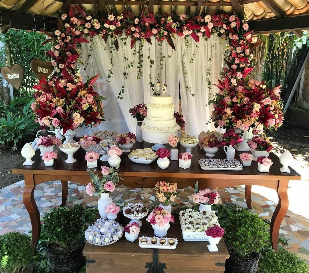 Decoração de Casamento Marsala